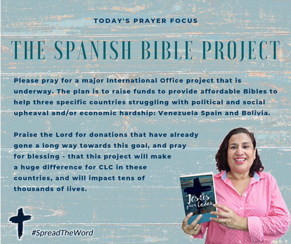 Pray for the Spanish Bible Project (March 26, 2019)
