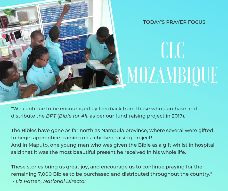 Pray for CLC Mozambique (March 28, 2019)