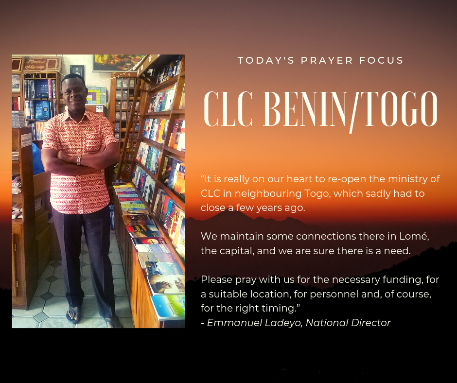 Pray for CLC Benin and Togo (March 29, 2019)
