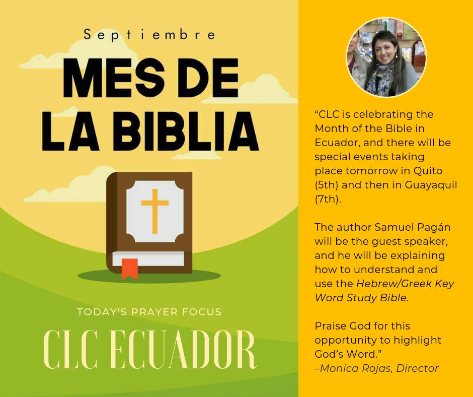 Pray for Ecuador (September 4, 2019)