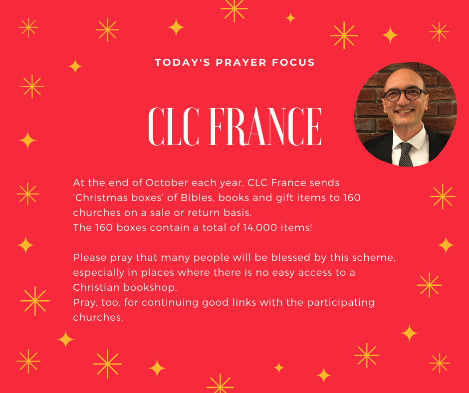 Tuesday (December 3) Prayer Focus for CLC France