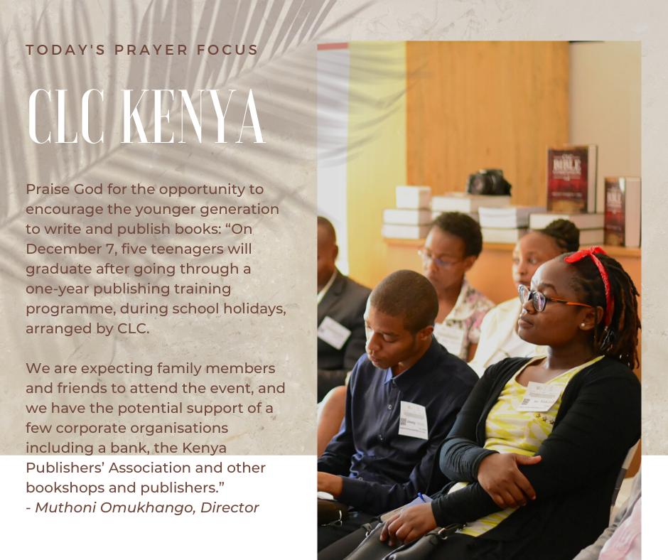 Thursday (December 5, 2019) Prayer Focus for CLC Kenya