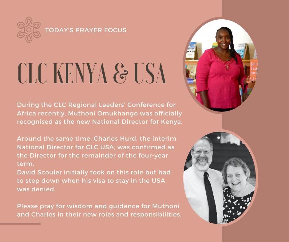 Friday (December 13, 2019) Prayer Focus for Kenya and USA