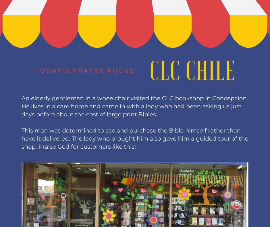 Wednesday (December 18, 2019) Prayer Focus for CLC Chile