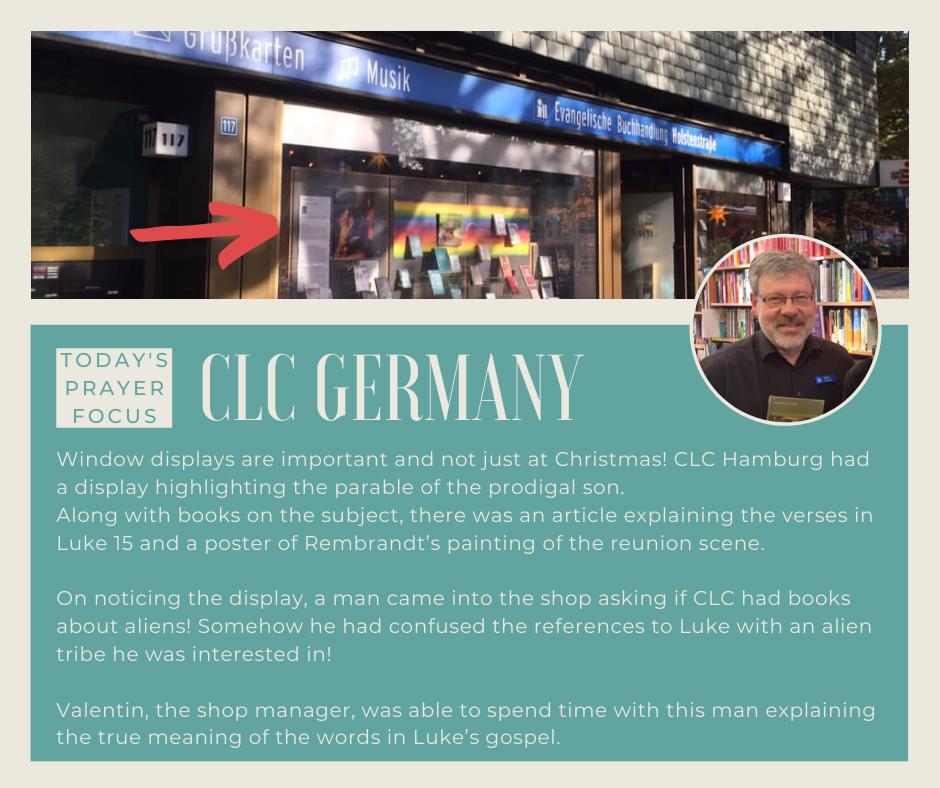Thursday (December 19, 2019) Prayer Focus for CLC Germany