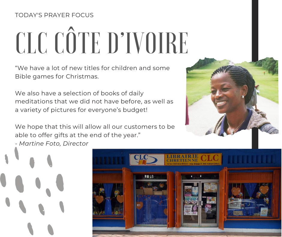 Monday (December 23, 2019) Prayer Focus for CLC Cote d'Ivoire