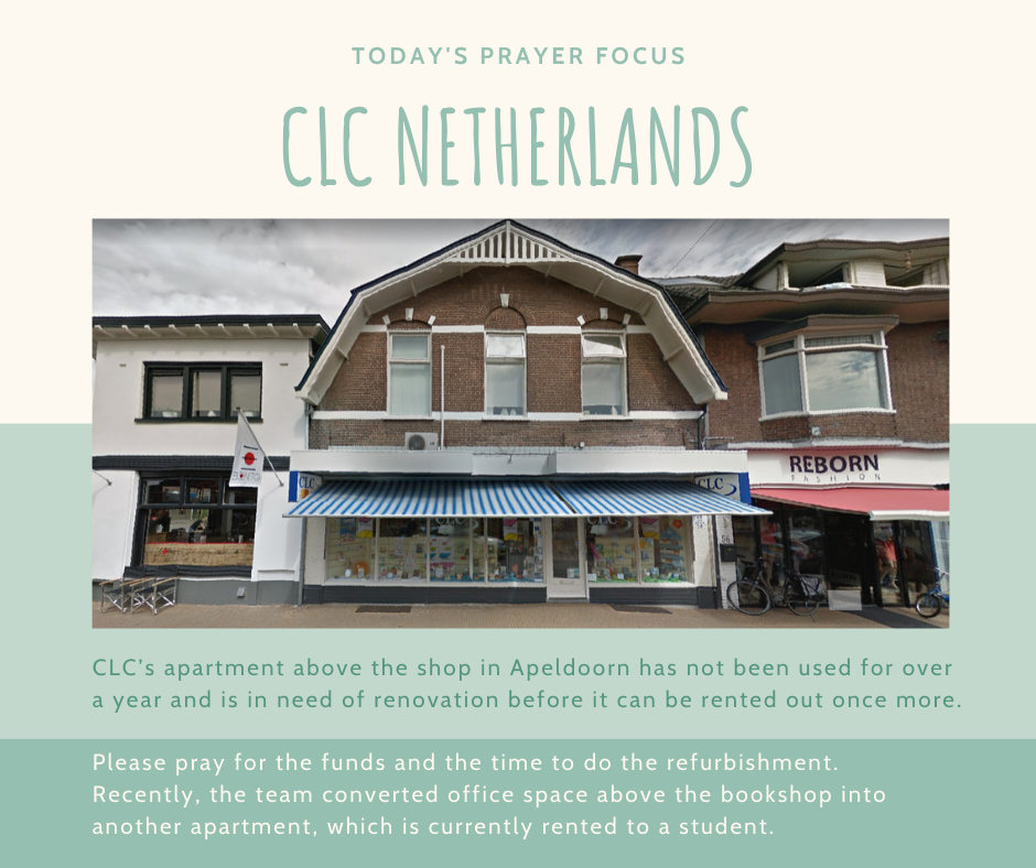 Wednesday (January 1) Prayer Focus for CLC Netherlands
