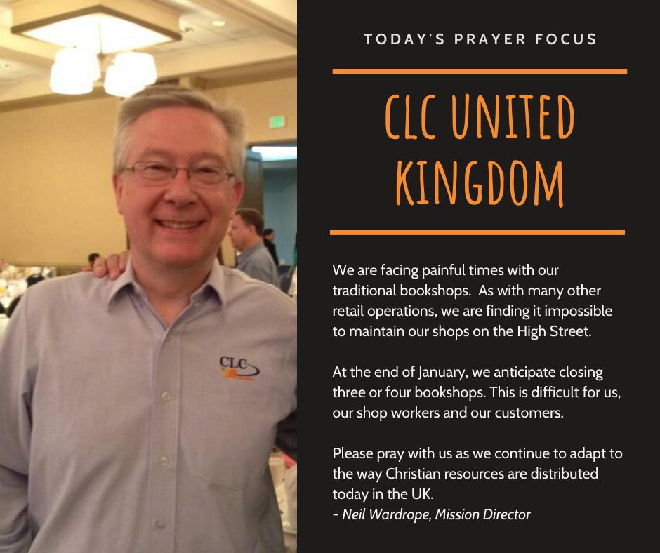 Thursday (January 2) Prayer Focus for CLC United Kingdom