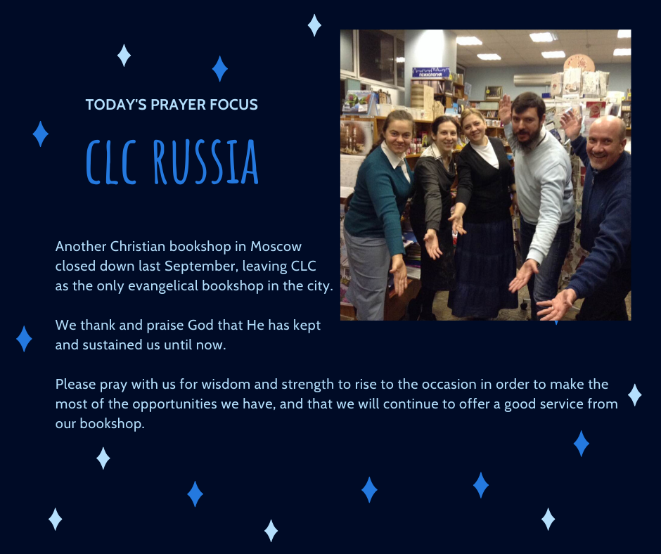 Tuesday (January 7) Prayer Focus for CLC Russia