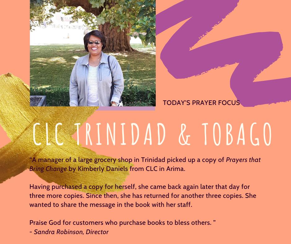 Friday (January 10) Prayer Focus for CLC Trinidad & Tobago
