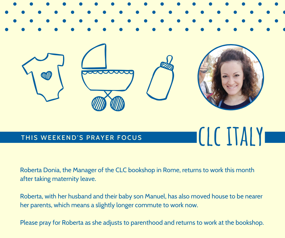 Weekend (January 11-12) Prayer Focus for CLC Italy