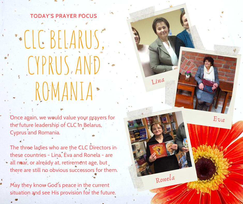 Monday (January 13) Prayer Focus for CLC Belarus, Cyprus and Romania