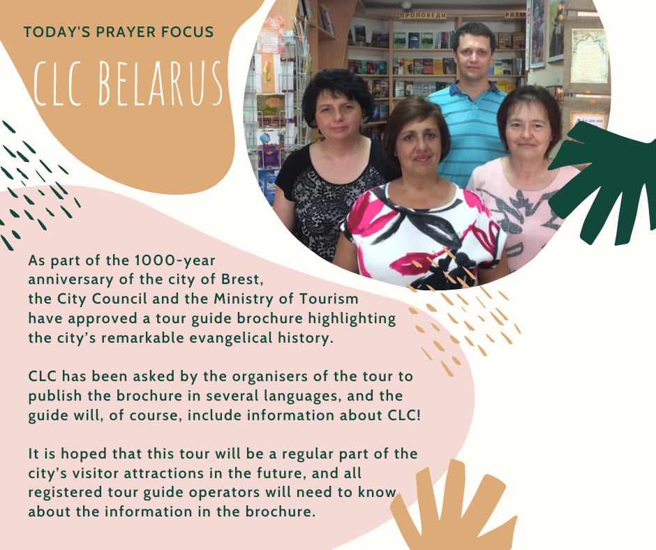 Thursday (January 16) Prayer Focus for CLC Belarus