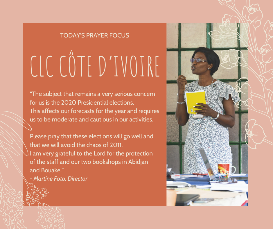 Tuesday (January 21) Prayer Focus for CLC Cote d'Ivoire