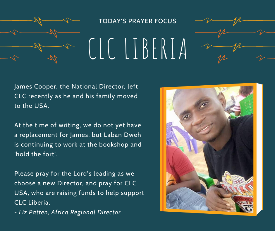 Thursday (January 23) Prayer Focus for CLC Liberia