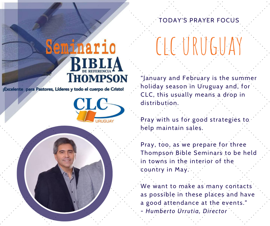 Monday (January 27) Prayer Focus for CLC Uruguay