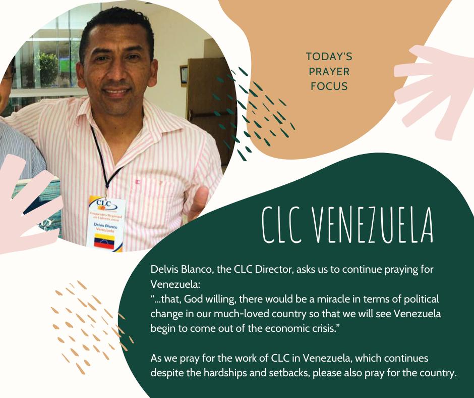 Wednesday (January 29) Prayer Focus for CLC Venezuela
