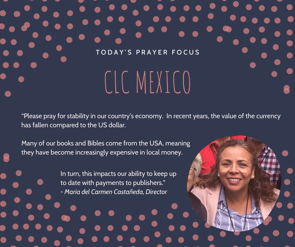 Friday (January 31) Prayer Focus for CLC Mexico
