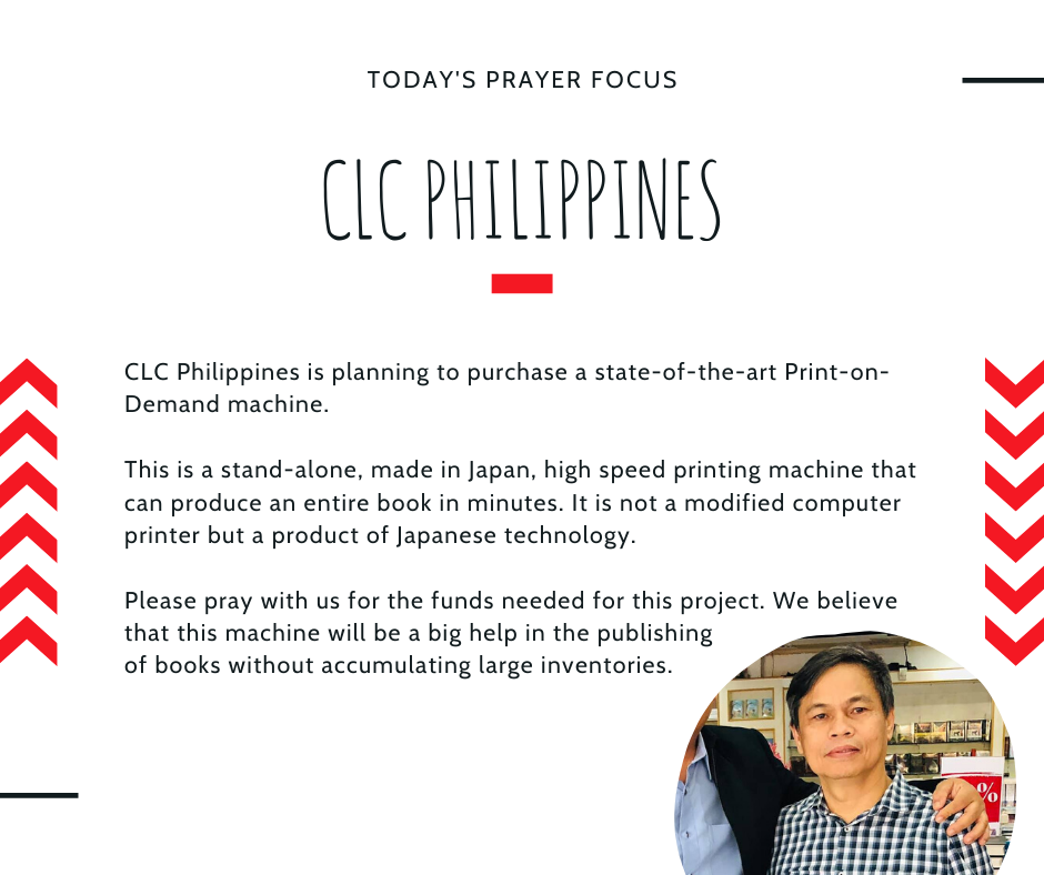 Monday (February 3) Prayer Focus for CLC Philippines