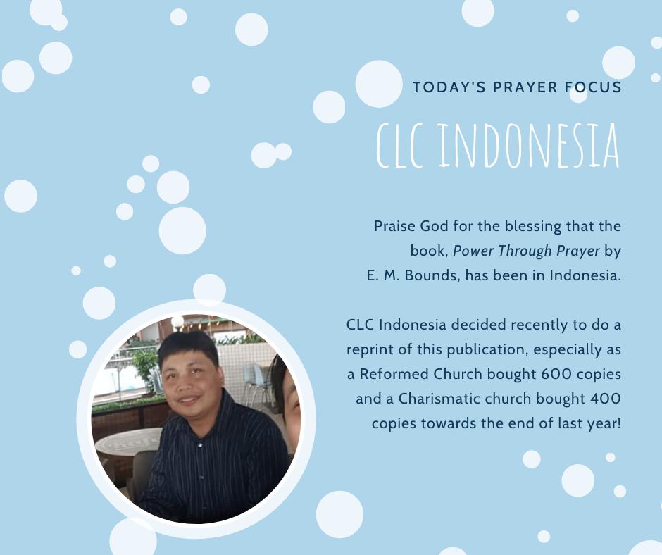 Wednesday (February 5) Prayer Focus for CLC Indonesia
