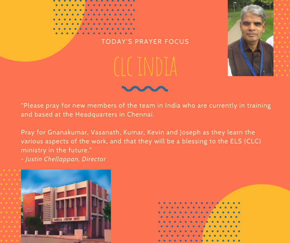 Thursday (February 6) Prayer Focus for CLC India