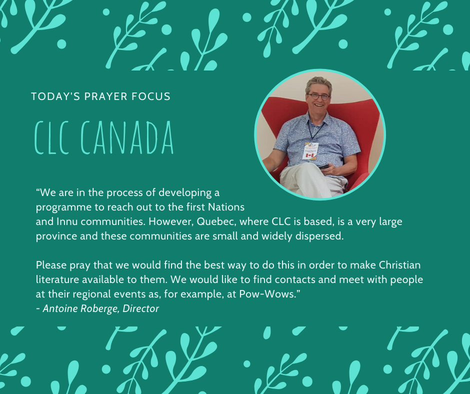 Monday (February 10) Prayer Focus for CLC Canada