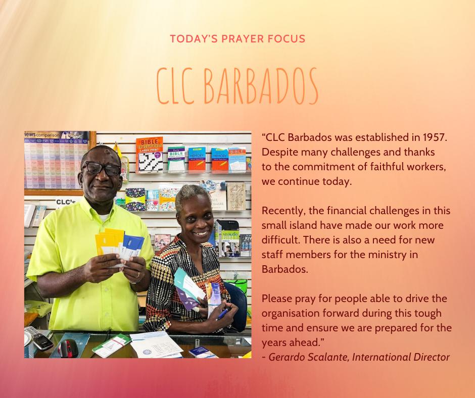 Thursday (February 13) Prayer Focus for CLC Barbados
