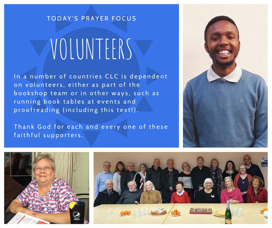 Monday (February 24) Prayer Focus for Volunteers